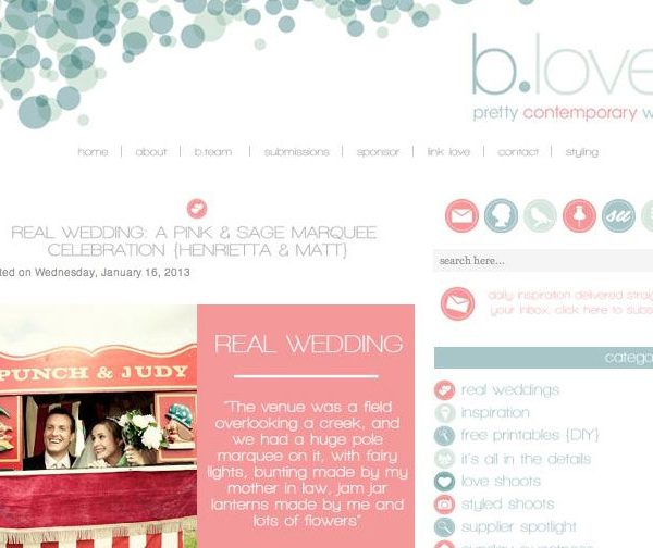 Marquee Wedding Photography - Published On BLOVED Wedding Blog