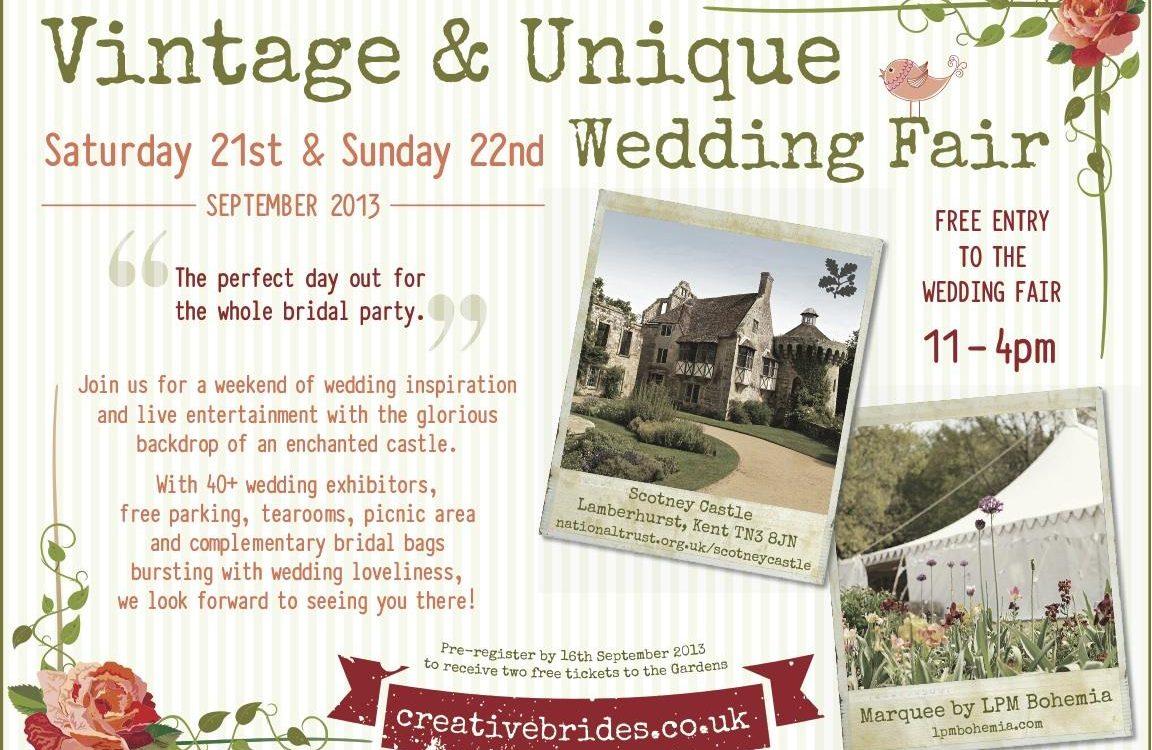Vintage and Unique Wedding Fair Photography at Scotney Castle