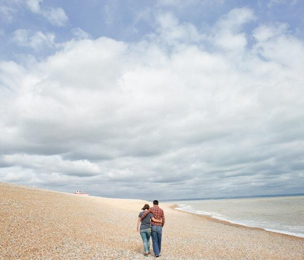 Dungeness Beach Engagement Photography