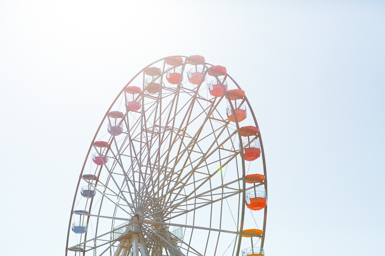 A photography of the big wheel in Margate at the Dreamland park