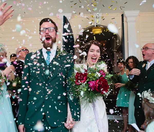 Fun Wedding Photography at Tin Tabernacle - Hythe, Kent