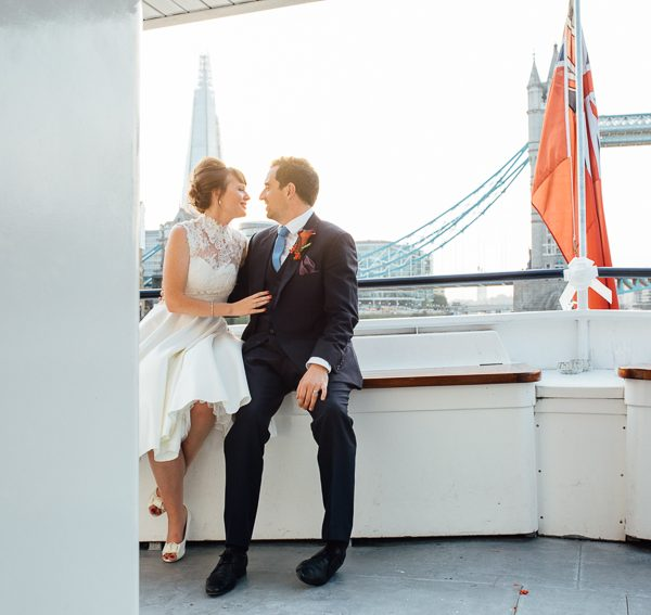 London Thames Barge Wedding Photography