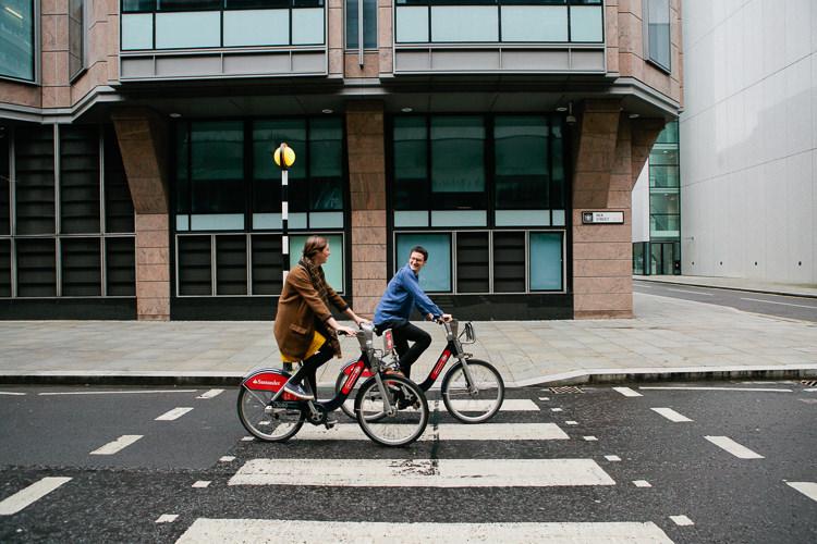 Engagement shoot at the Barbican London