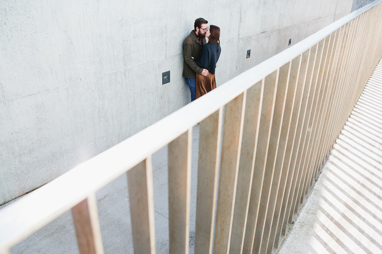 A engaged couple outside the turner Contemporary Art galley in Margate having their Kent engagement shoot by Matilda Delves Wedding photography-3