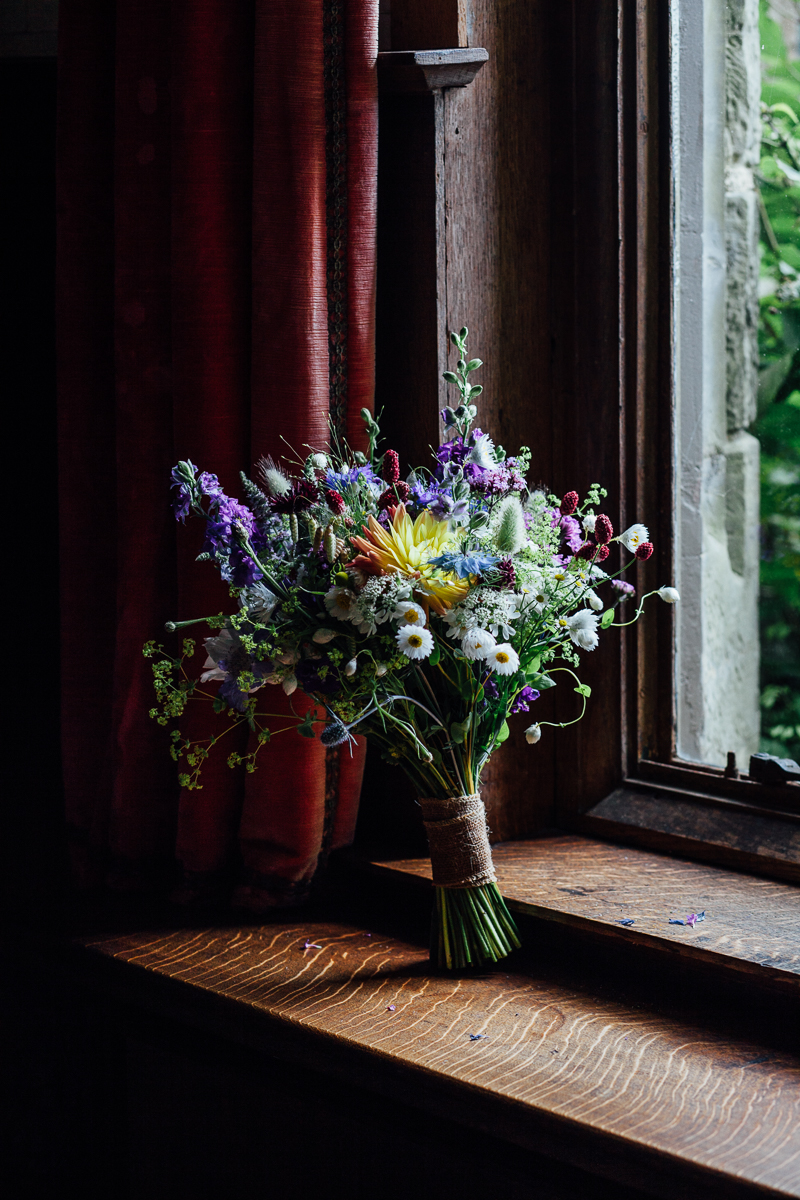 Natural informal bridal bouquet by Tunbridge Well florist Darling and wild   Natural Wedding Photography