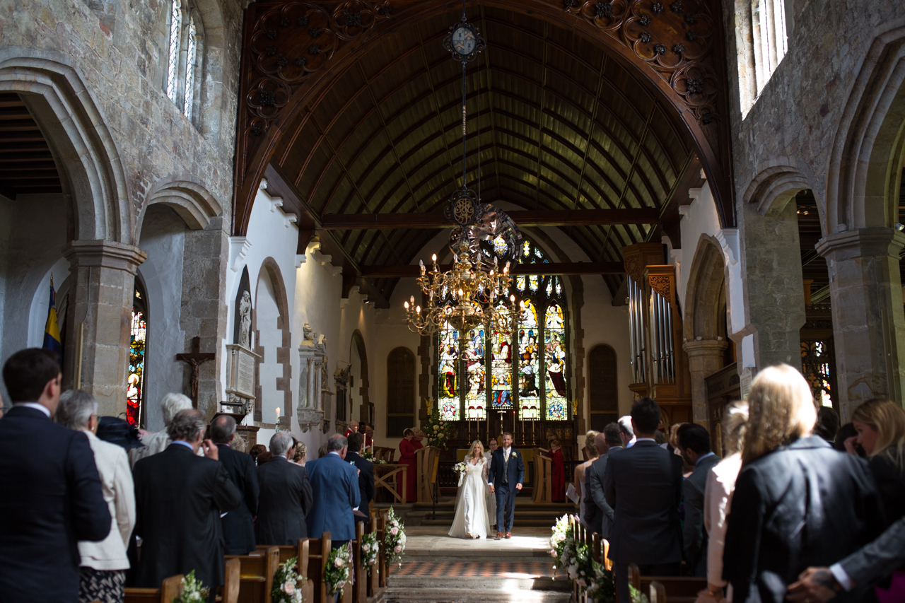 A Wedding ceremony at Mayfield Church