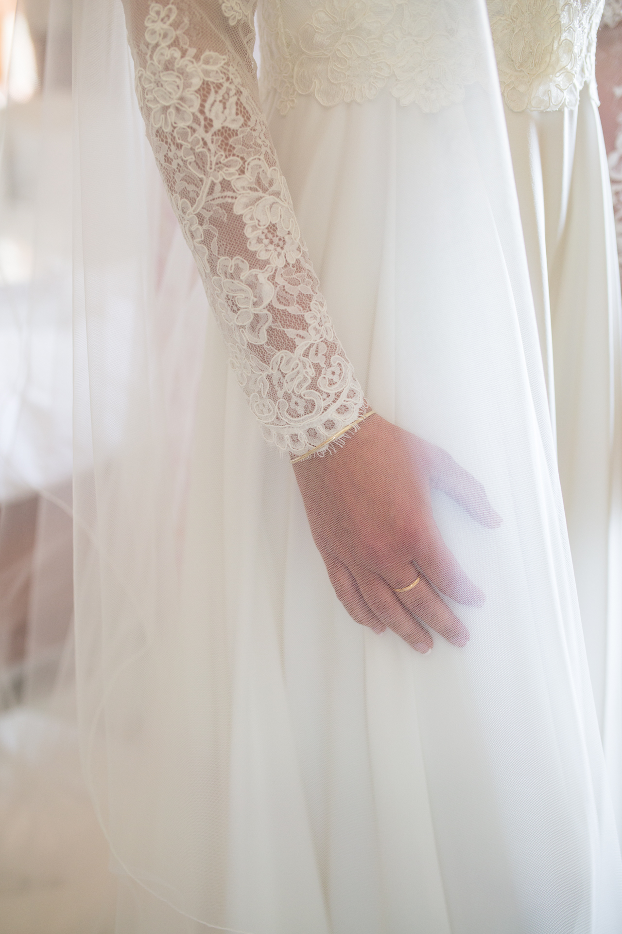 A detail of a wedding dres form From Frou bridal boutique
