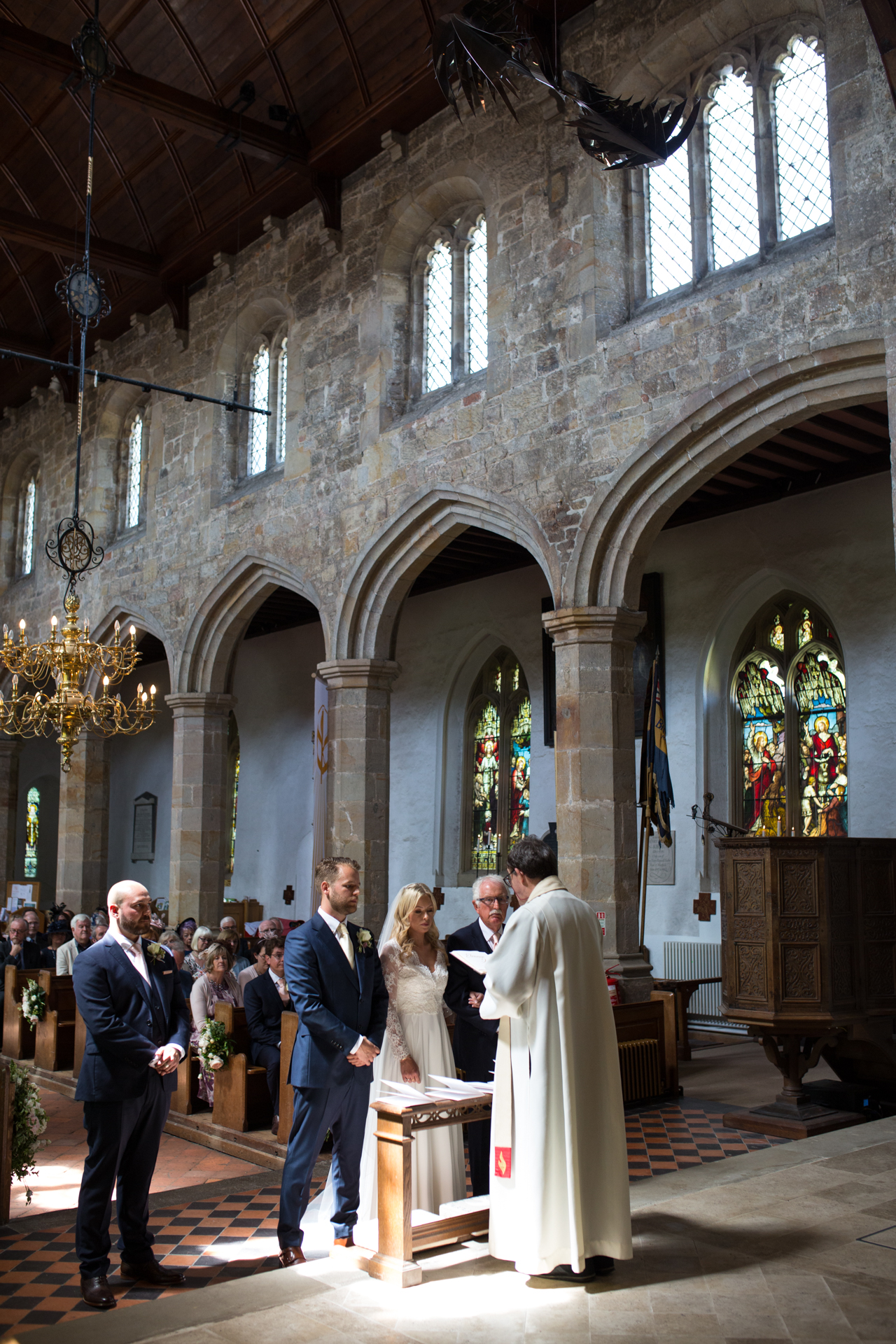Wedding ceremony at Mayfield Church