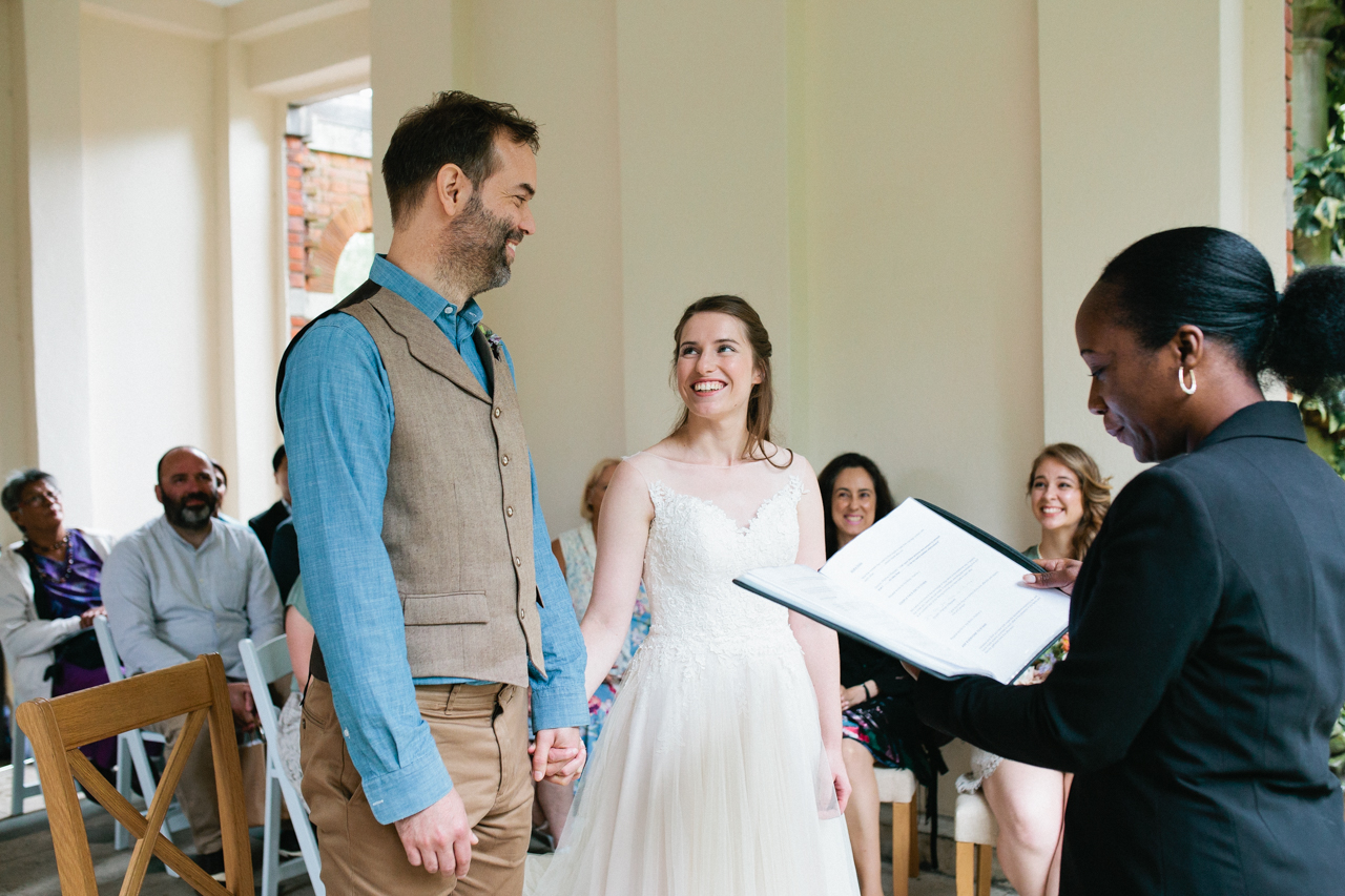 The happiest bride and groom The Hill Top Gardens and Pergola Wedding on Londons Hampstead Heath - Kent documentary wedding photography