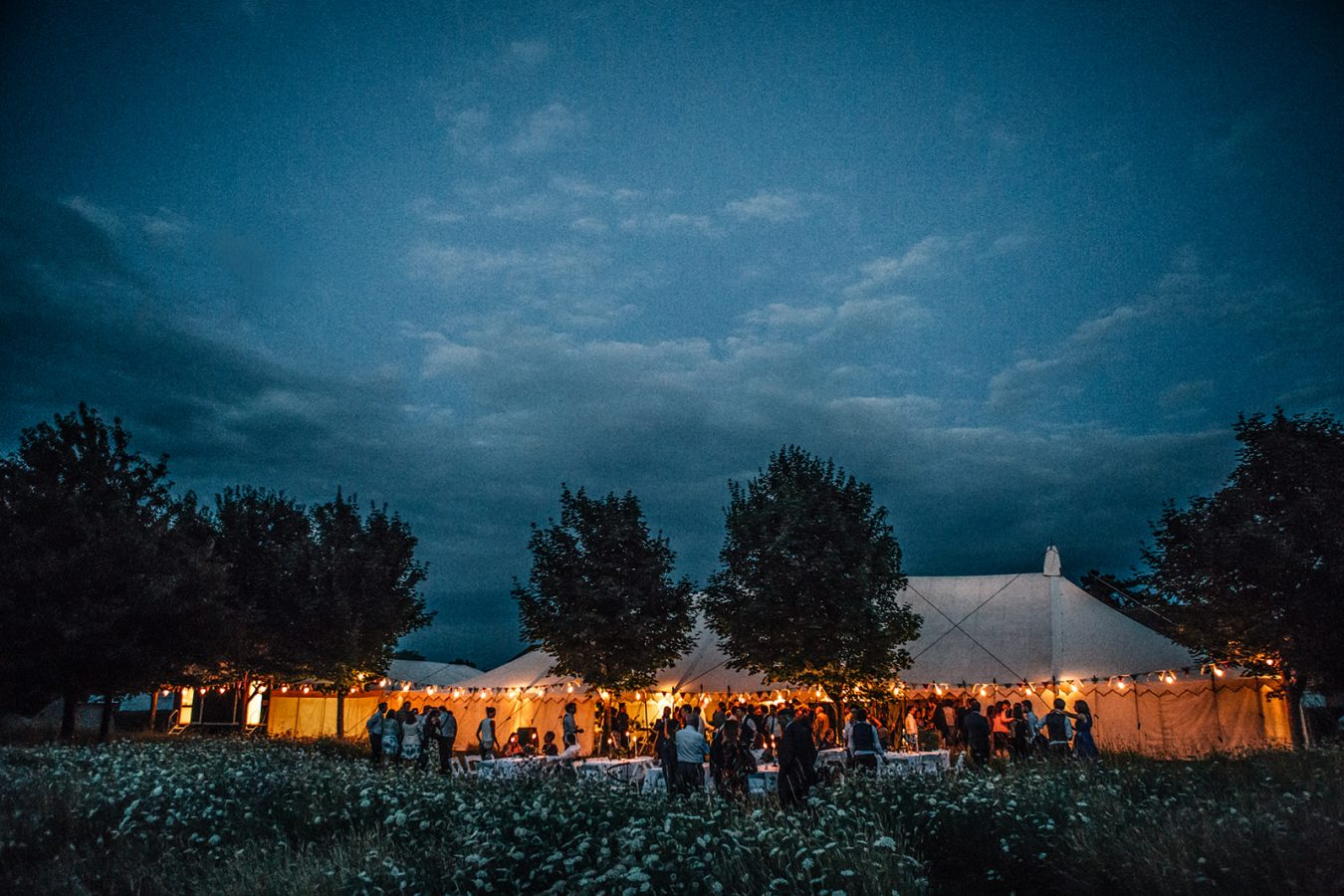 A beauiful canvas Marquee set up in a medow for a Kent Marquee Wedding photographed by natural style Kent Wedding Photographer Matilda Delves