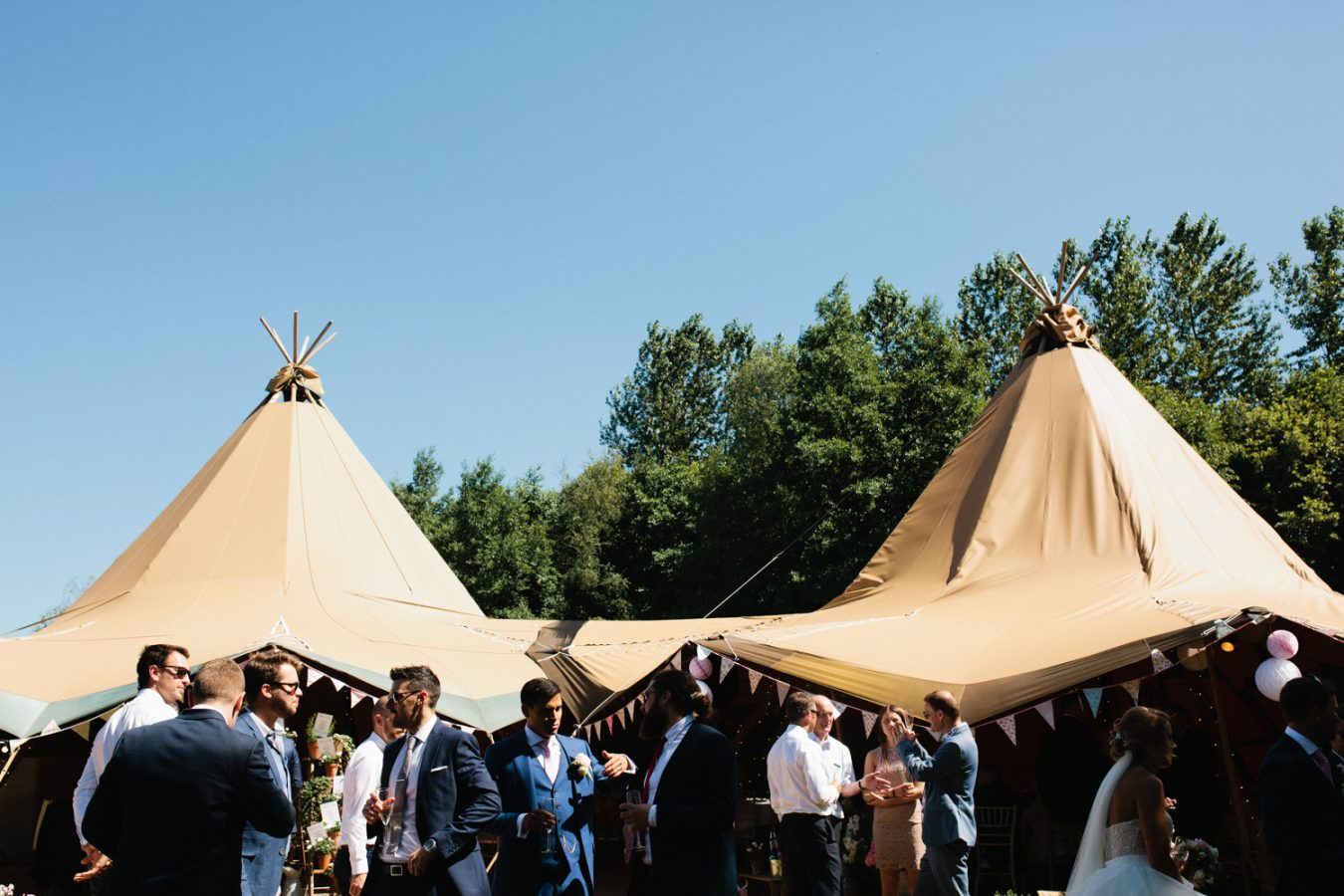 Summer Tipi Weddings in Kent at Frant Lakes by Kent Wedding Photographer Matilda Delves