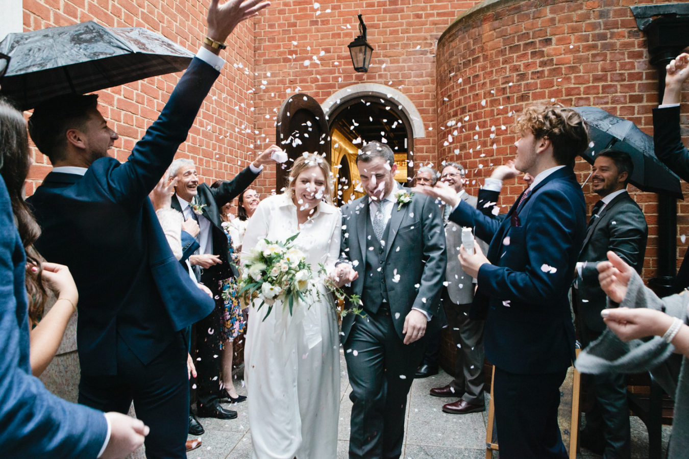 A confetti shot photographed by London & Kent Wedding Photographer Matilda Delves