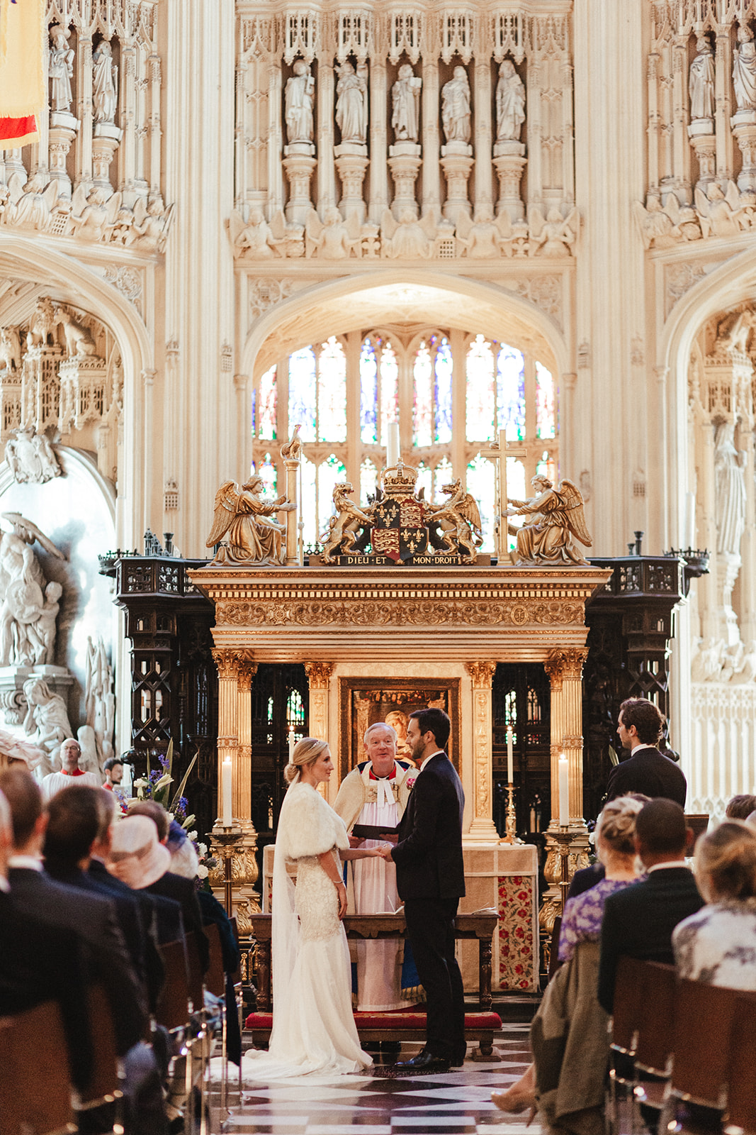A westminster Abbey wedding ceremony photographed by natural London wedding photographer Matilda Delves