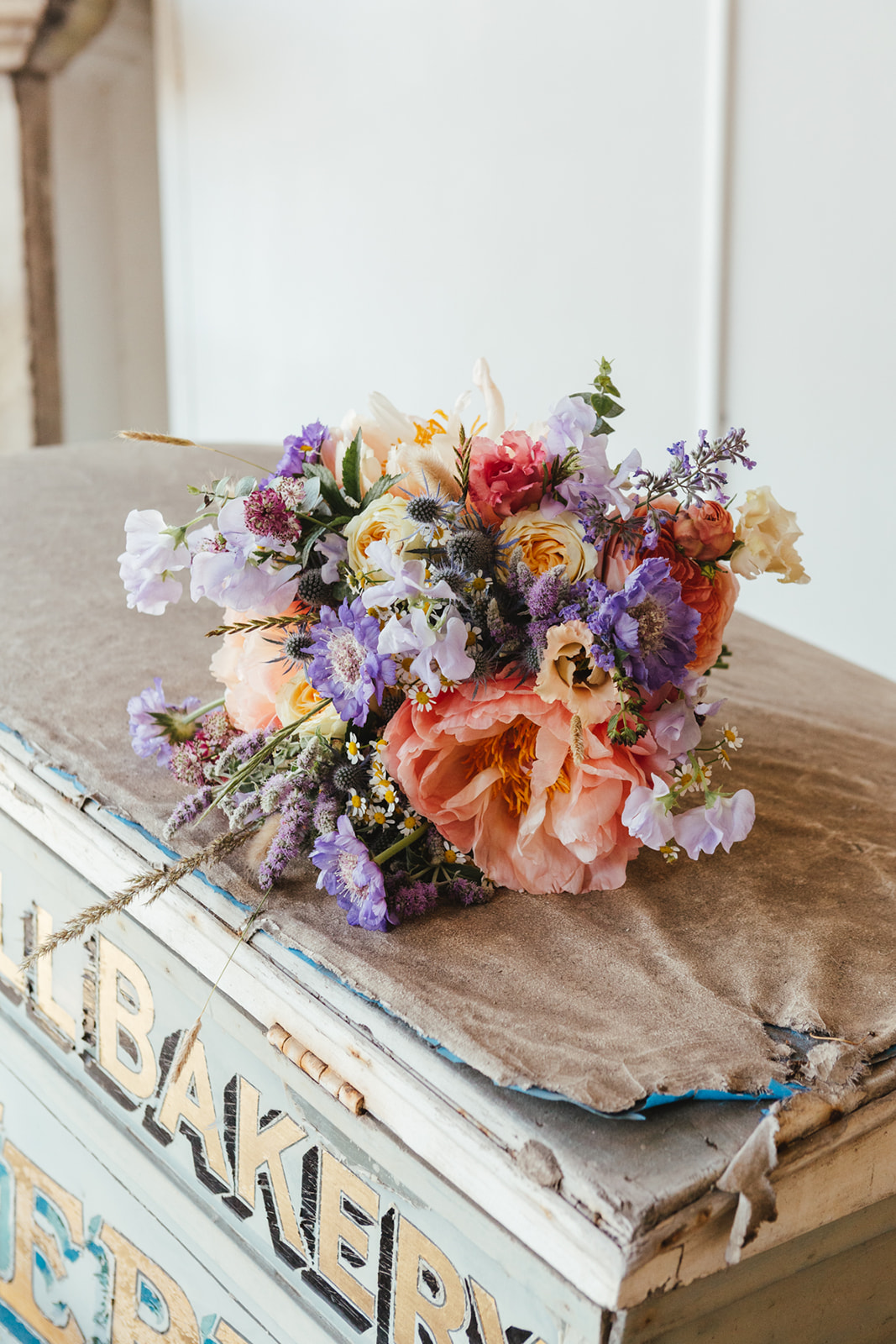 A pretty pastel colour bouquet by Wild Rubus the florist